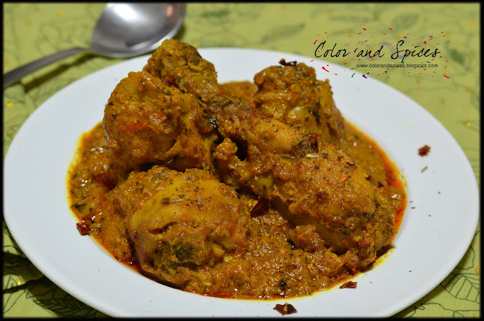 Color and Spices: Kasuri Methi murg..Fenugreek chicken curry