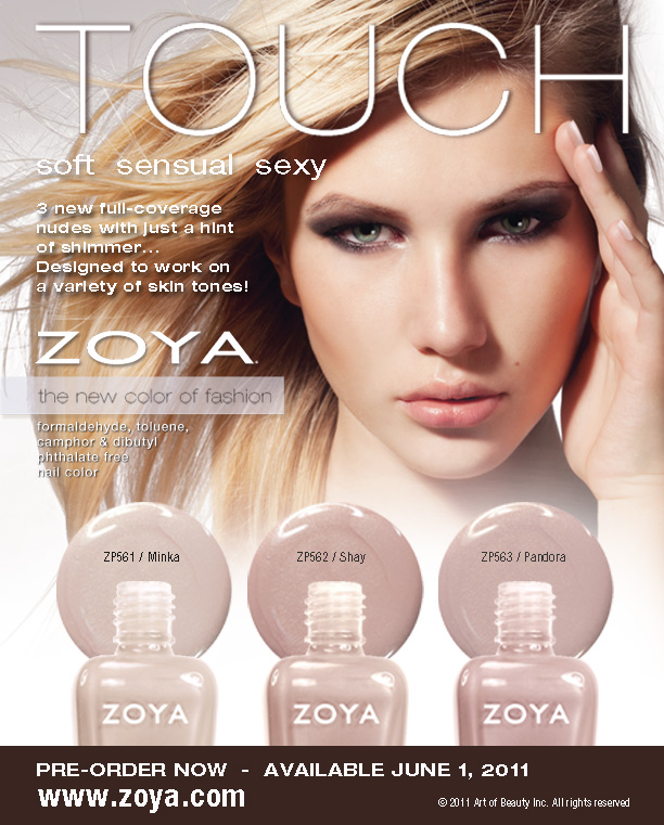 3 limited edition nude nail polish colors from Zoya