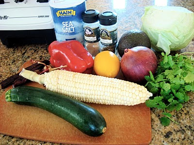 Vegetarian Mexican Pasole Soup Ingredients
