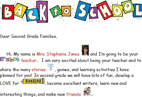 welcome letter from teacher
