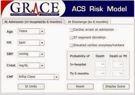 "Cálculo del ""Global Registry of Acute Coronary Events"" (GRACE)"
