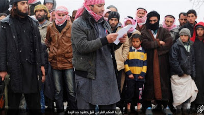 ISIS Publicly Executes A Man In Raqqa in January 2016.