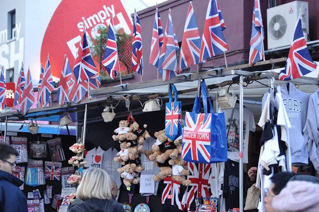 Camden Town Market Union Jack stall