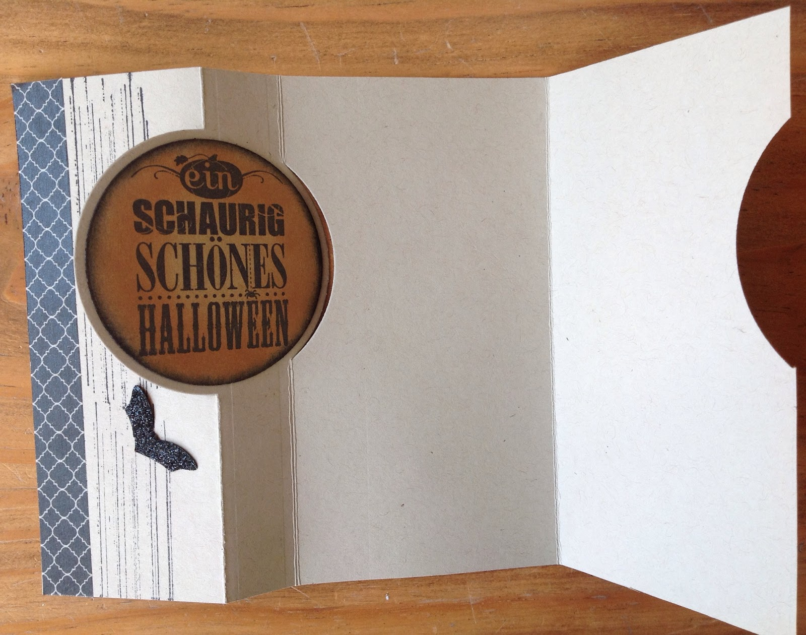 Halloweenkarten mit Stampin`up, La Blanche, Pop-up Karte