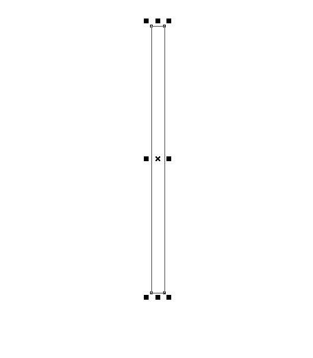 Kemudian buatlah sebuah persegi panjang menggunakan Rectangle Tool ...