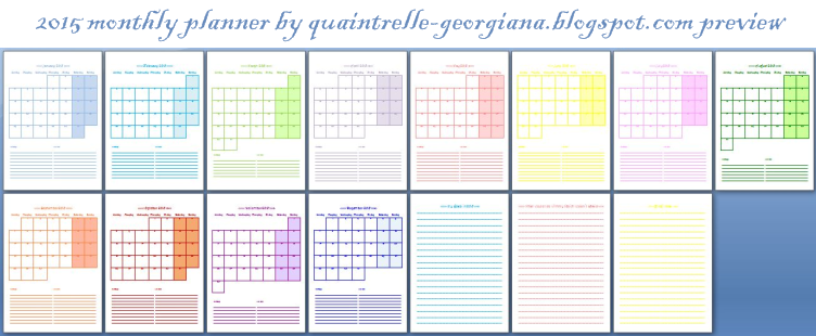 Download the 2015 monthly planner