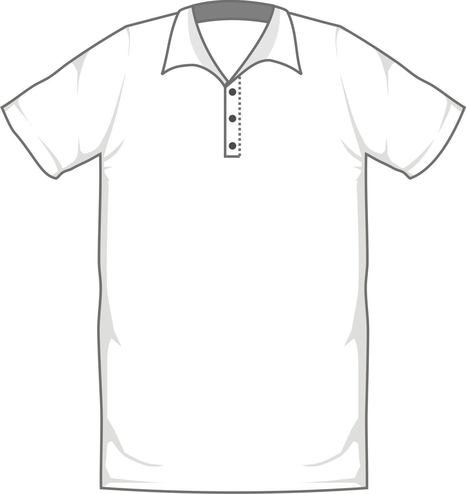 Blank Shirt Template With Collar Joy Studio Design