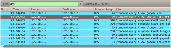 Sniffing con Wireshark