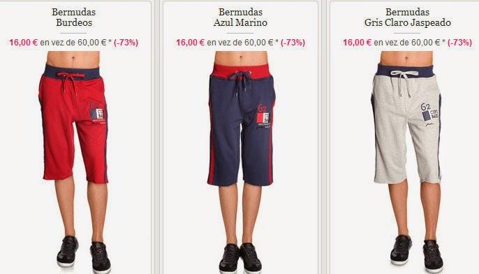 Bermudas para hombre por 16 euros