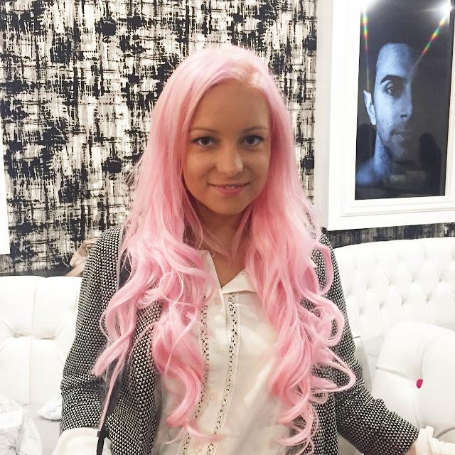 pastel pink hair extensions