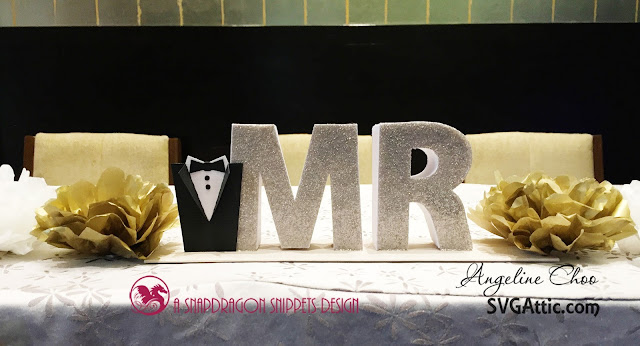ScrappyScrappy: Mr & Mrs box letters wedding signage #svgattic #scrappyscrappy #wedding #boxletters #mrandmrs