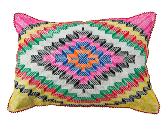 Safari Fusion blog | A wish to do something cushion | Langazela Cushion (chevron) by Safari Fusion www.safarifusion.com.au