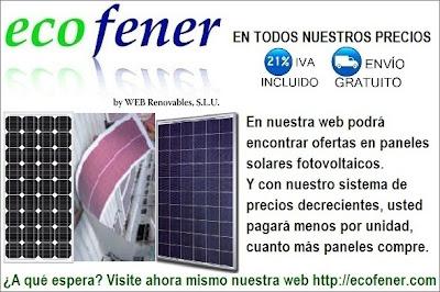 Todo tipo de paneles solares fotovoltaicos y al mejor precio en ecofener.com