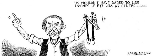 Khattak shoots down the drones