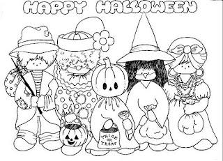Risco para pintura de Halloween