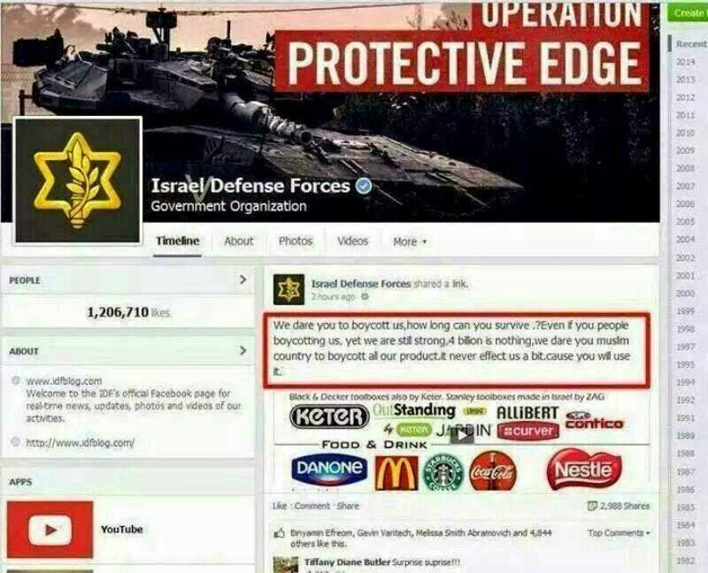 Israel angkuh cabar negara Islam boikot produk mereka