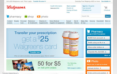Walgreens Prescription Savings Club Website