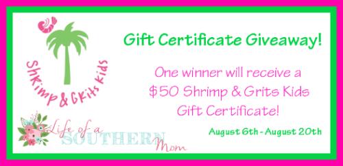 Shrimp & Grits Kids Gift Certificate Giveaway