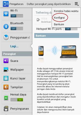 Cara Menjadikan Tablet Android Sebagai Hotspot Wifi