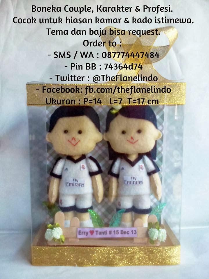 Boneka Couple, Karakter & Profesi: Boneka Couple Jersey Real Madrid