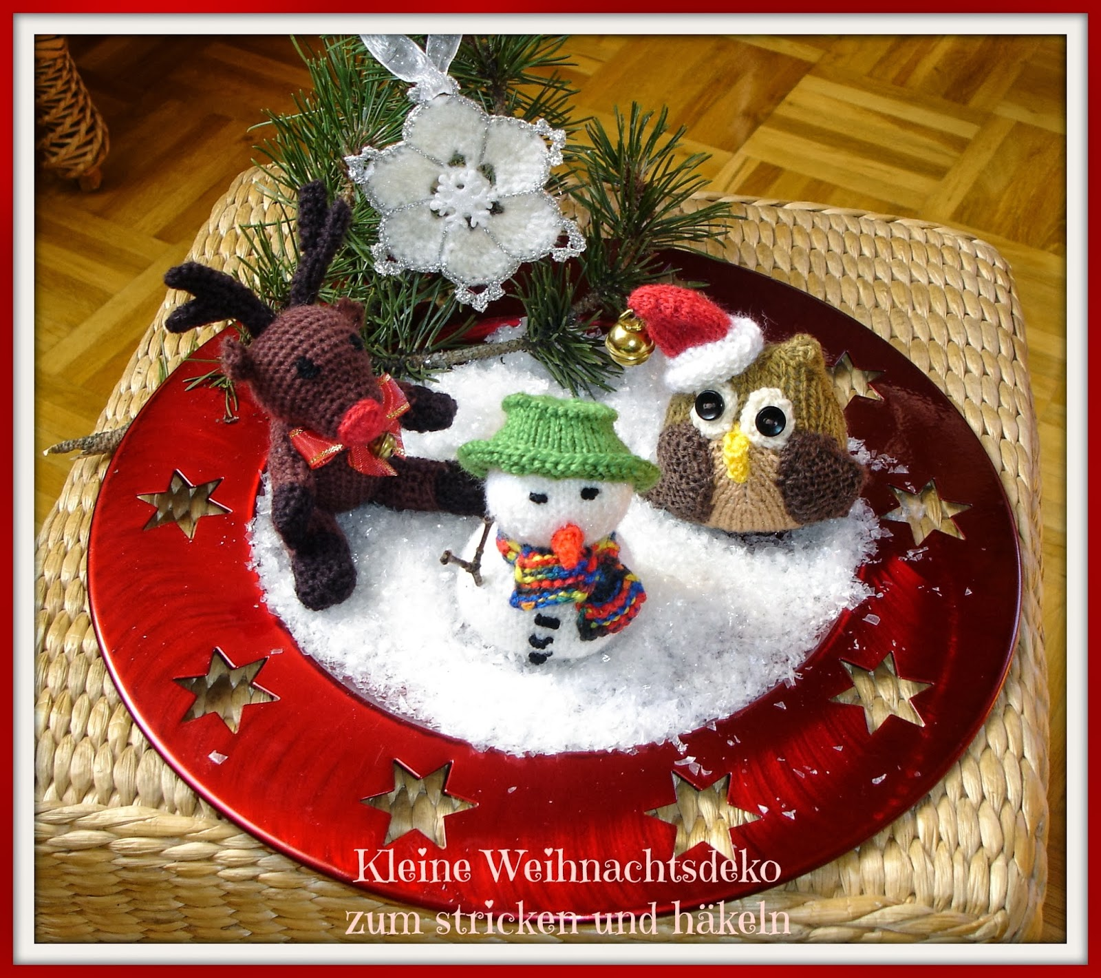 Kleine weihnachtsdeko zum stricken und h keln my blog - Amazon weihnachtsdeko ...
