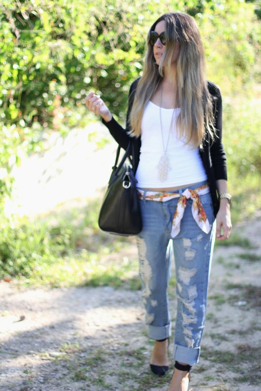 Boyfriend jeans fashion blogger