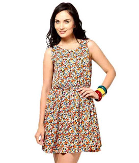 .Besiva Multi Chic Polycrepe Dresses