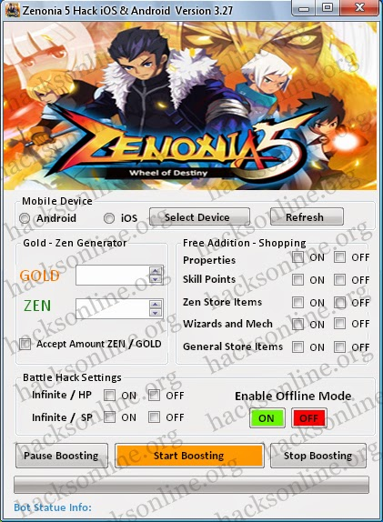Zenonia, Zenonia 5 outil de piratage, 5 Triche Zenonia, Zenonia 5