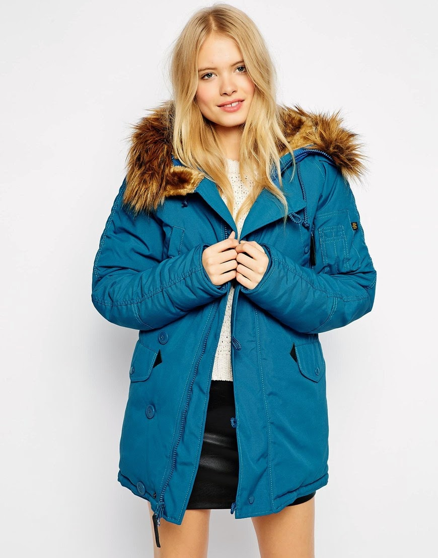 alpha industries blue parka, teal parka coat,