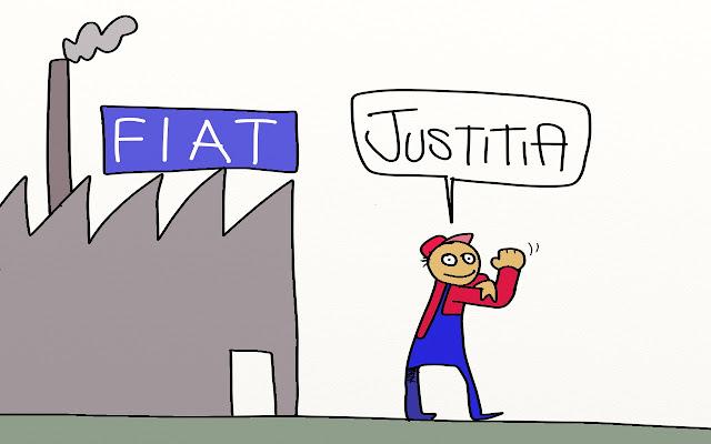 riassunti causa giustizia 4 operai Gava satira vignette