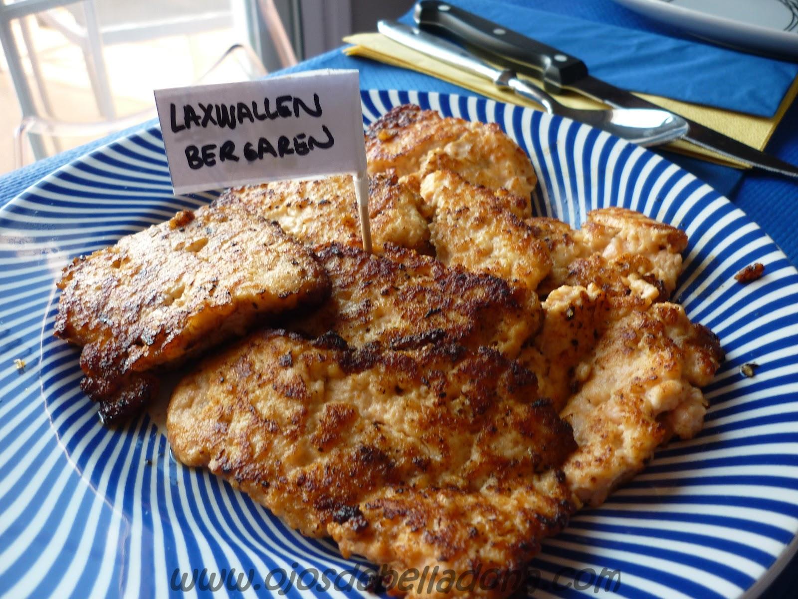 Laxwallenbergare, hambuguesa de salmón, Comidas del mundo, Suecia, sueca