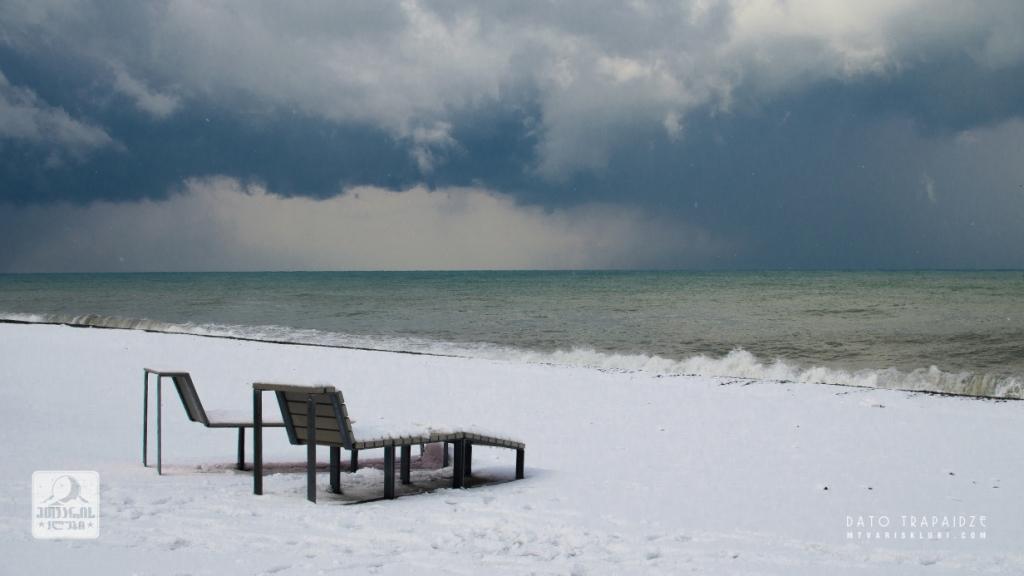 თოვლი და ზღვა. ბათუმი. Море и снег. Батуми