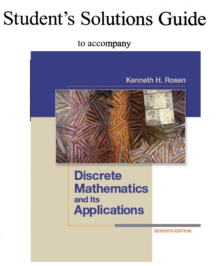Discrete Mathematics And Its Applications 7th Edition Manual Guide