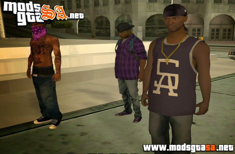SA - Skins Convertidos das Gangs Grove e Ballas do GTA V