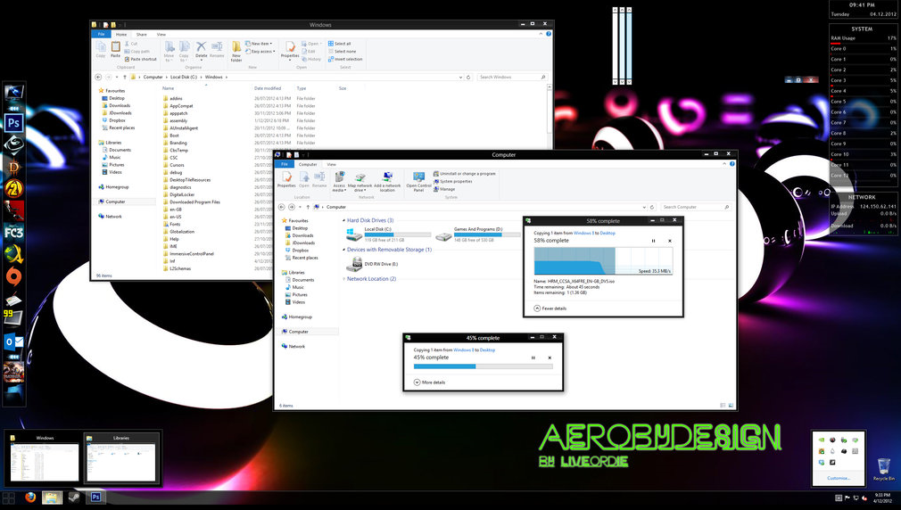 aero by design theme for windows 8