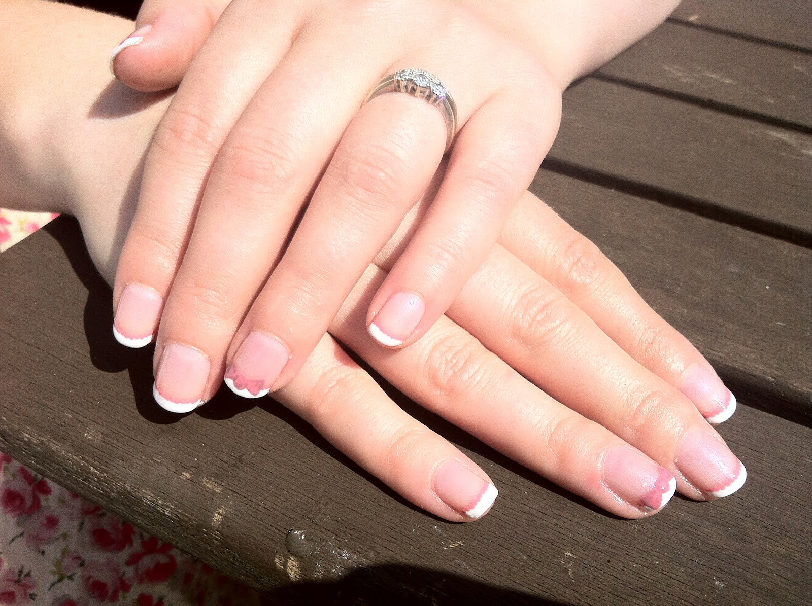 Brush up and polish up cnd shellac nail art french manicure cnd shellac nail art french manicure with rosebud bow detail prinsesfo Image collections