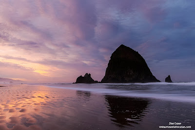 Sunrise at Cannon Beach, Oregon.