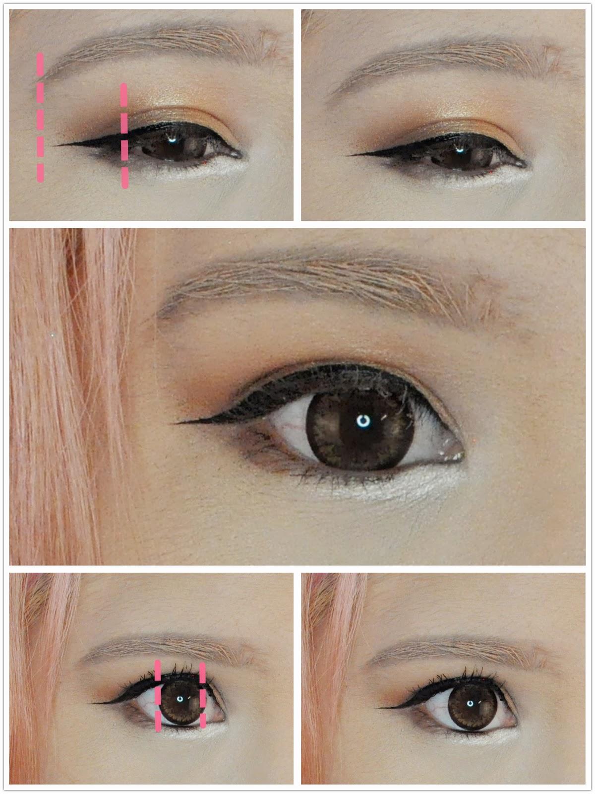 My Darling Rainbow Elegant Autumn Gyaru Current Makeup Tutorial Eyeliner