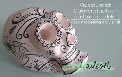 mexican skull videotutorial calavera halloween