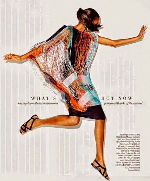 Missoni 2014 SS Editorial: Fringe-Dweller Dress