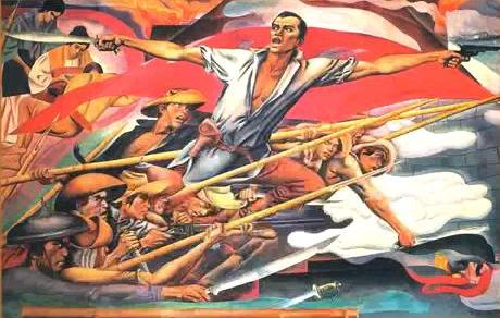 Go philippines other works of carlos botong francisco for Bonifacio mural