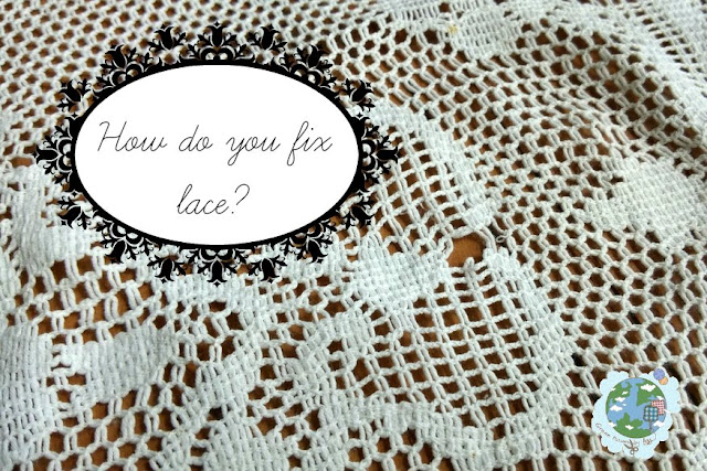 fixing lace