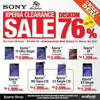 Sony Xperia Clearance Sale Diskon Hingga 76%