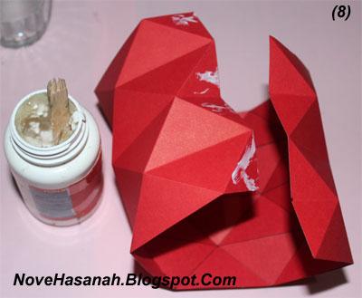 Contoh Kerajinan Tangan dari Kertas : Mempercantik Vas Bunga dari Gelas 8