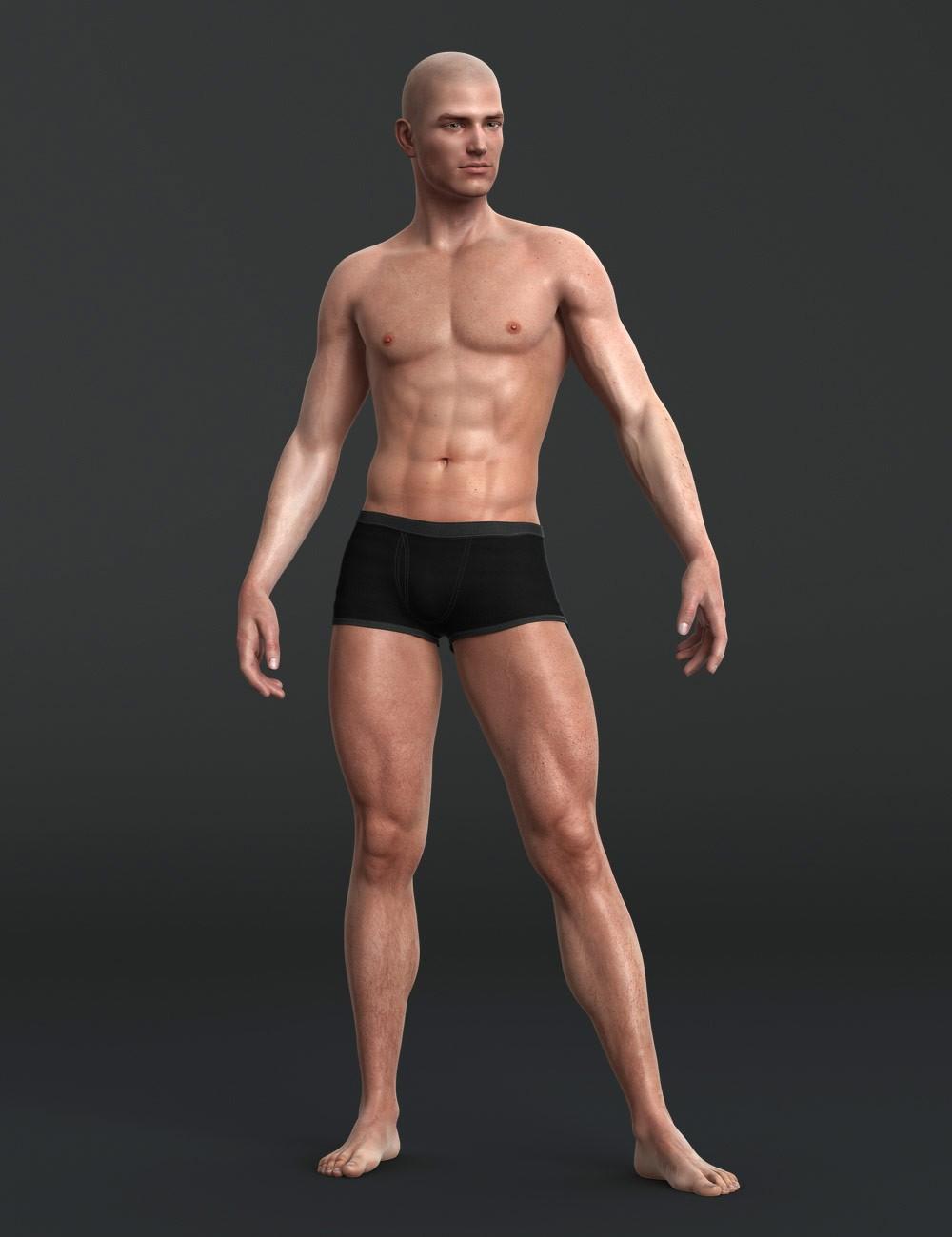 full figure naked male models