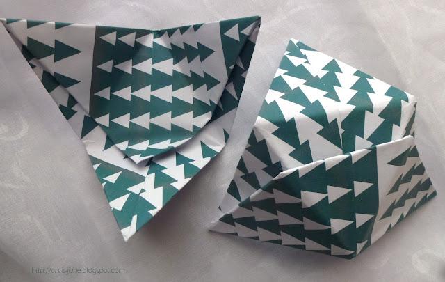 Origami Tetraeder-Box Module