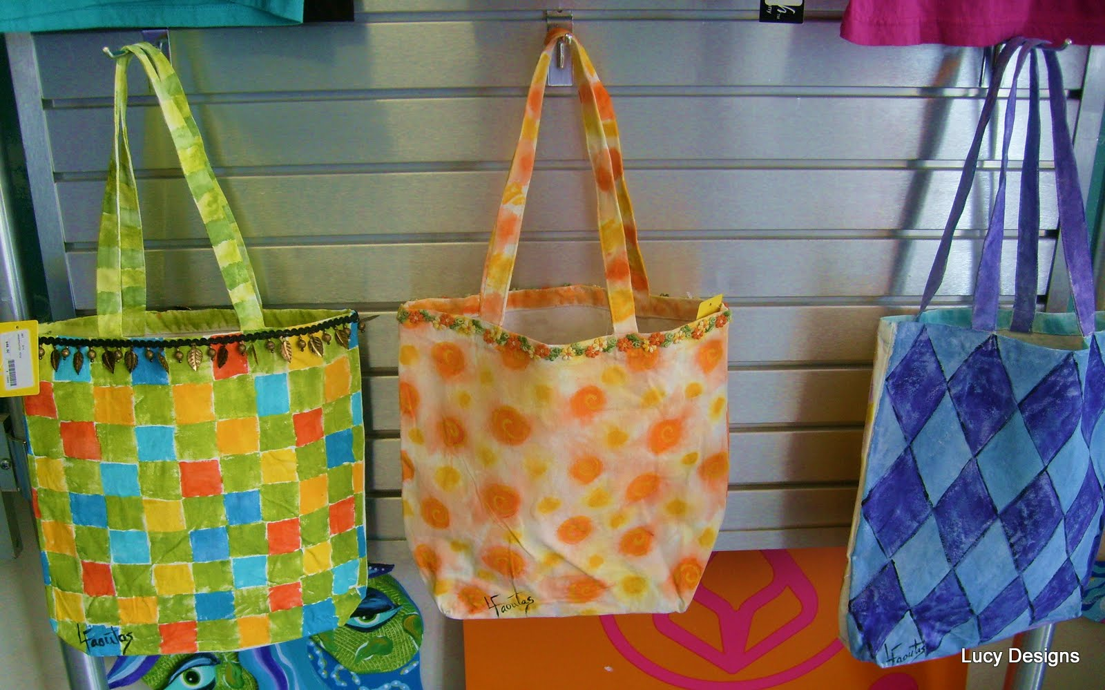 painted canvas bags DIY & How to Paint on Fabric Hand Painted Designs Chair Cushions Pillows ...