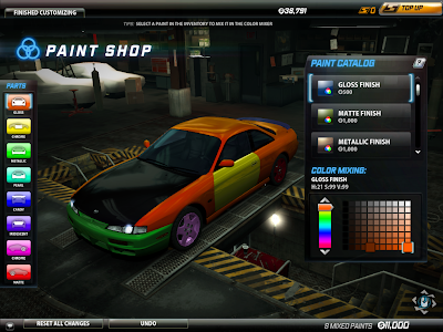 Need For Speed World - Paint Shop