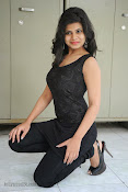 Alekya Photos in Black at Aa Aiduguru Press meet-thumbnail-7