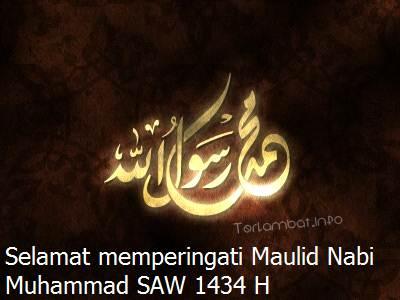 Ucapan Maulid Nabi Muhammad SAW 2013